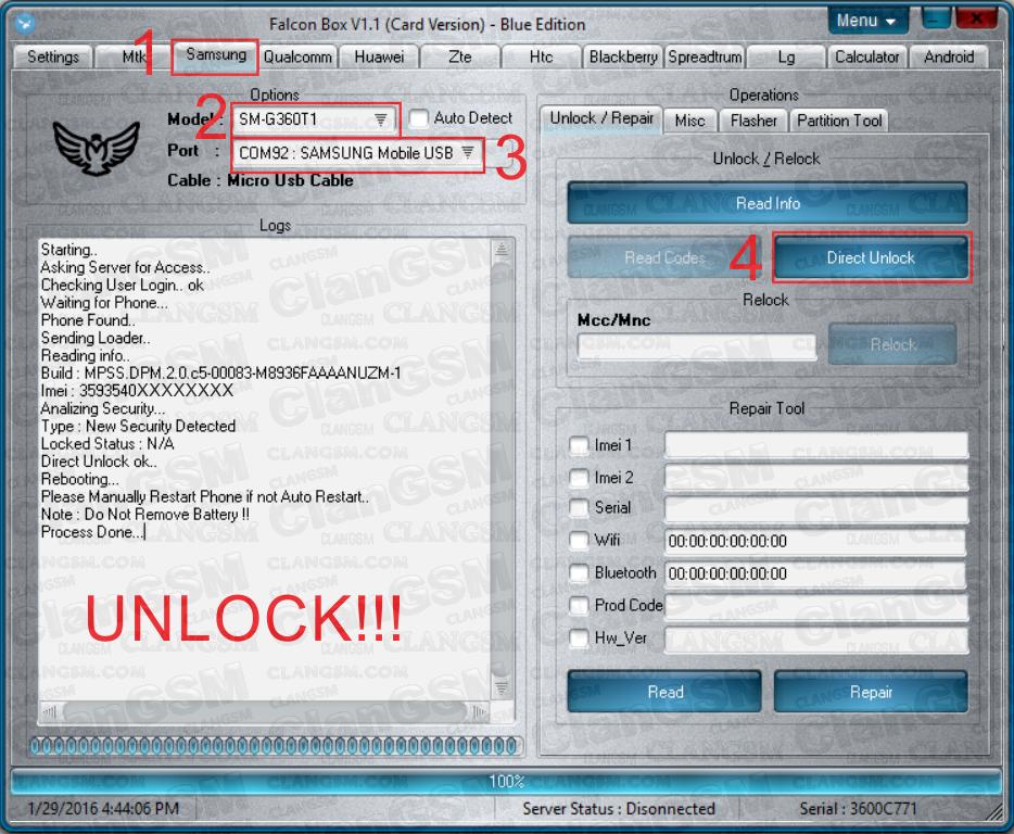 G360t Unlock Free