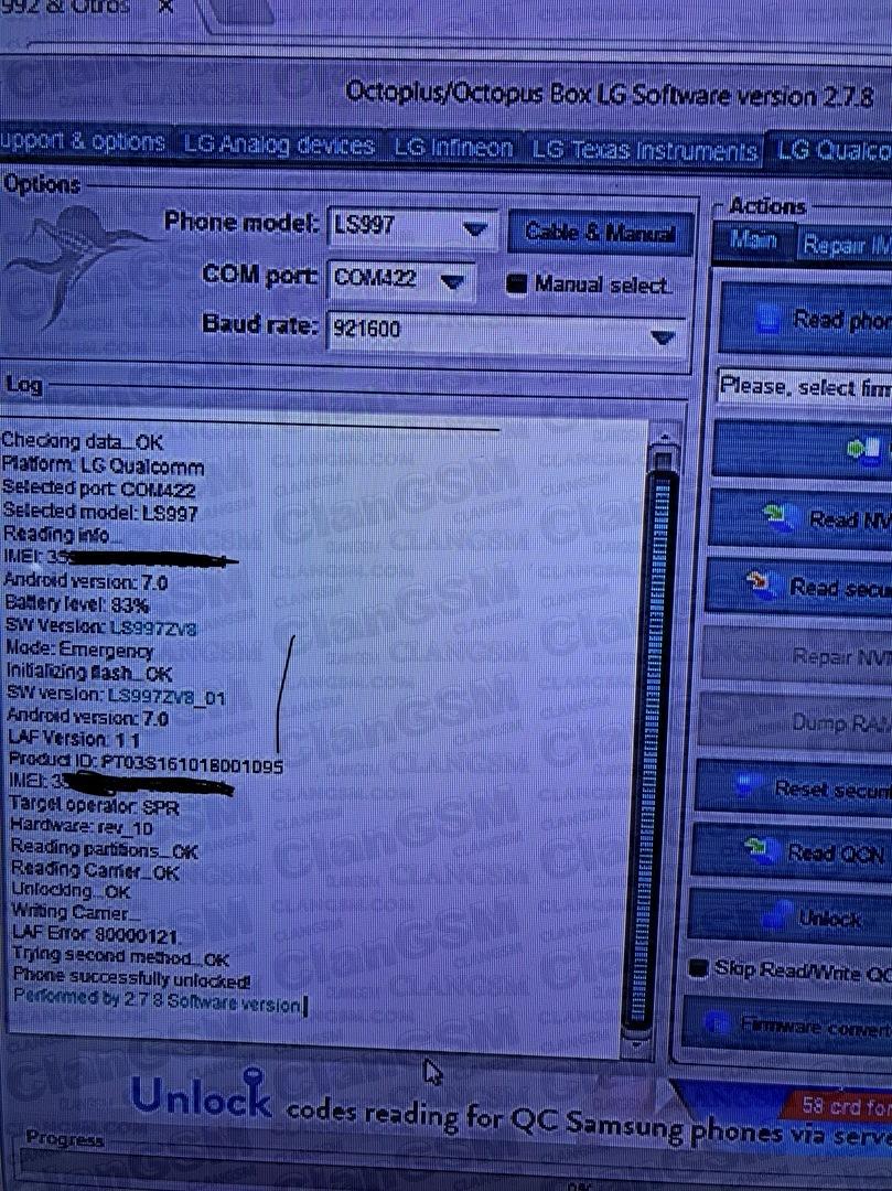 Liberar Ls997 (v20 Sprint) - Clan GSM - Unión de los Expertos en