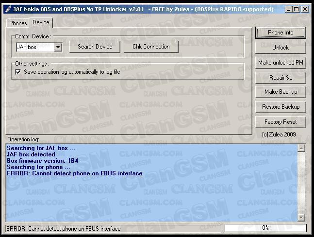 jaf1.98.66_Emulador Jaf 1.98.66 Beta 5 - Clan GSM - Unión de los Expertos en Telefonía Celular