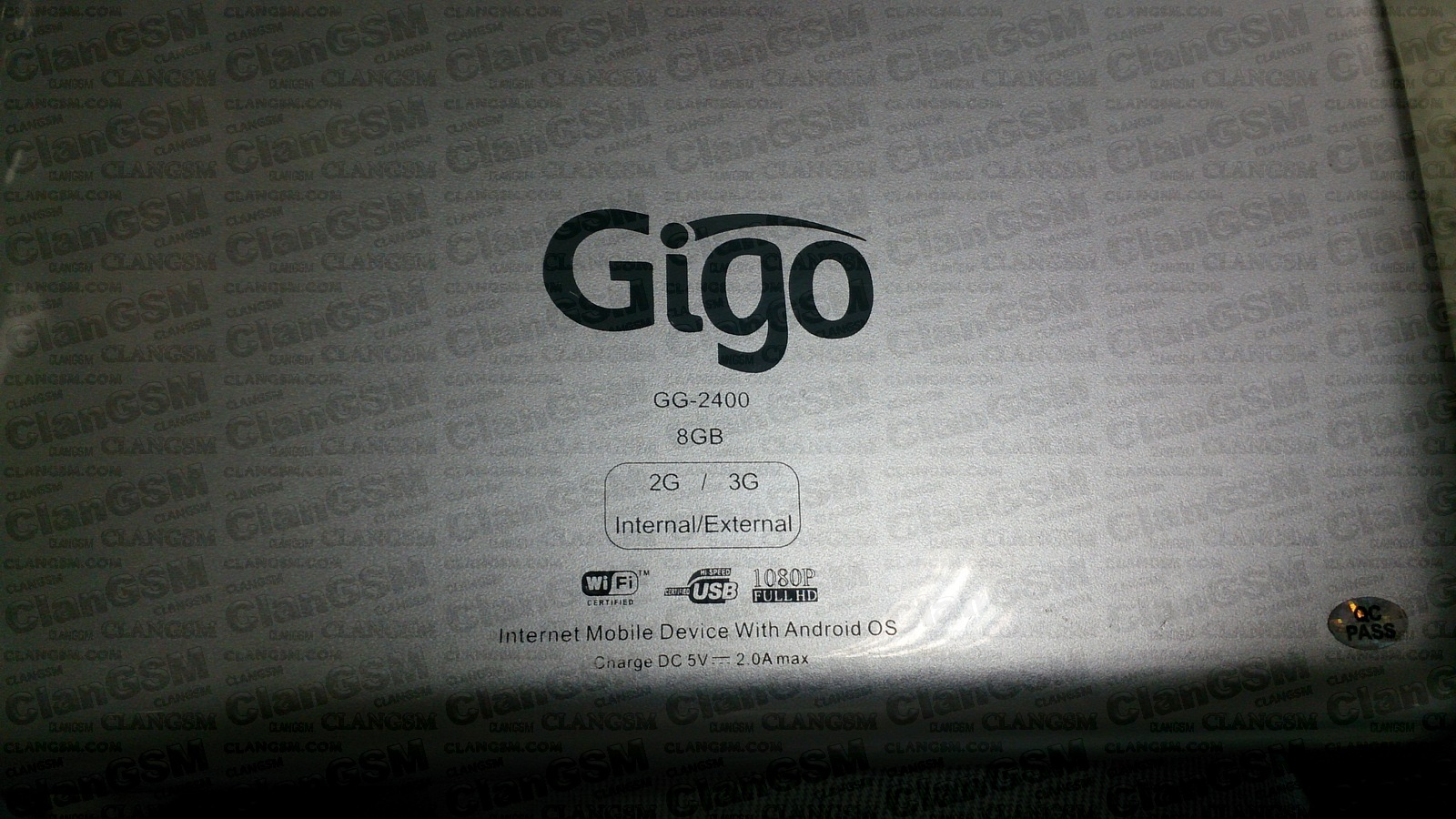 Firmware Tablet GiGo GG-2400 de 8GB