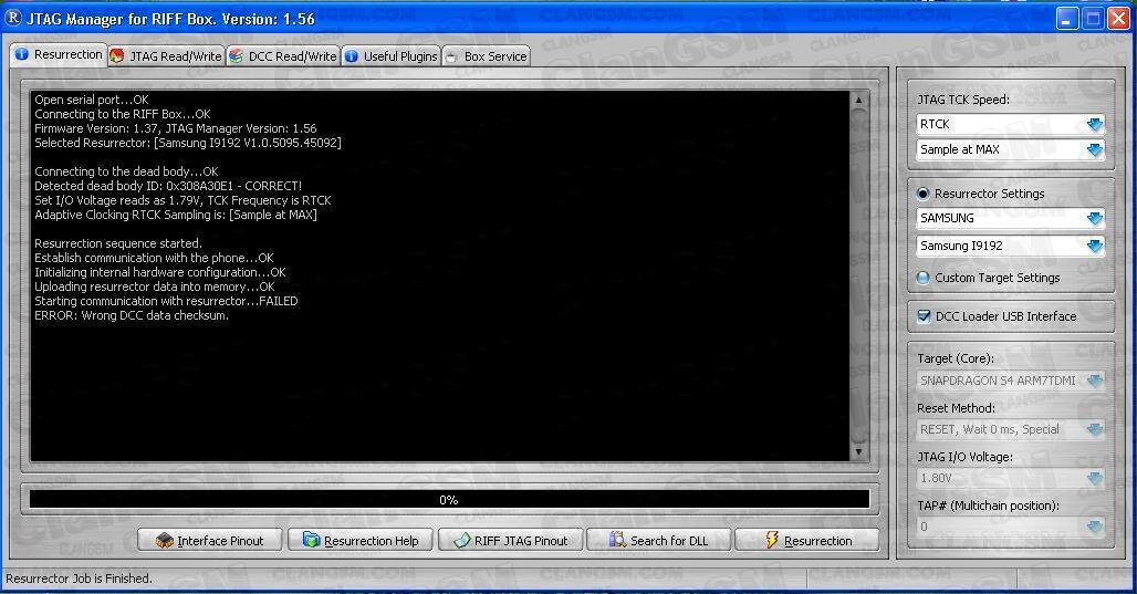 error Al Revivir I9192 - Clan GSM - Unión de los Expertos en