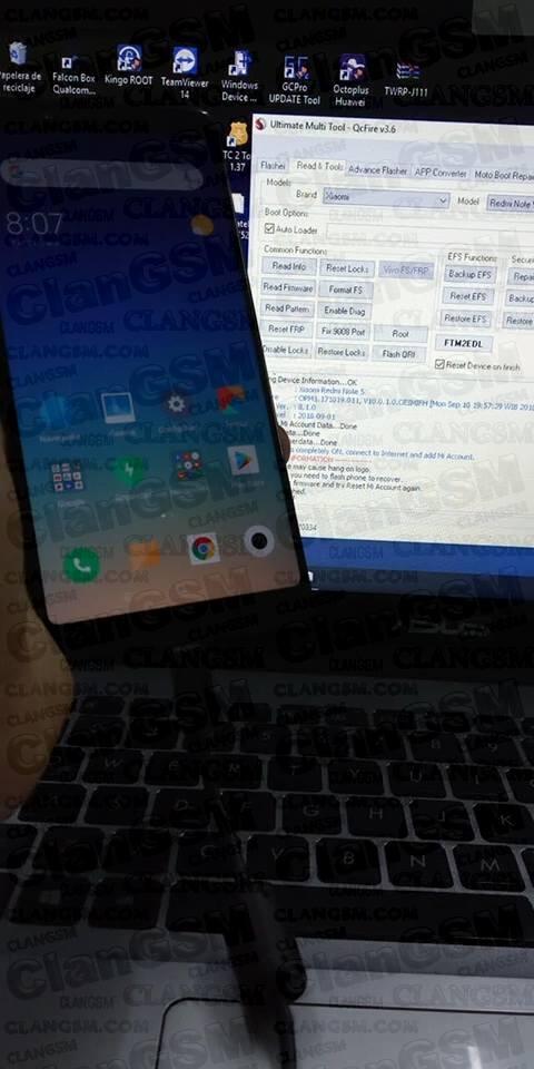 Frp/cuenta Mi, Xiaomi Redmi 5 Plus, Umt Qc - Clan GSM - Unión de los