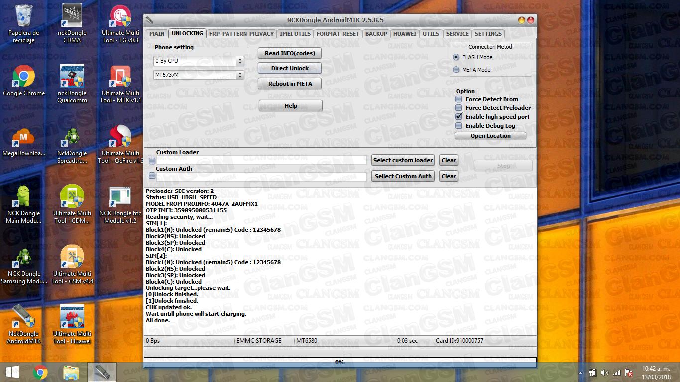 Aporte Unlock Alcatel 4047g - Clan GSM - Unión de los Expertos en