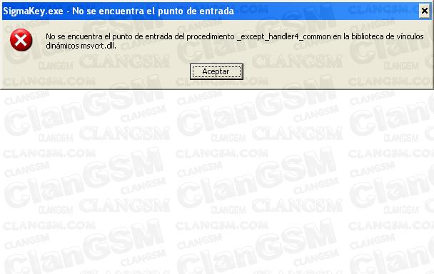 Aporte solucion de Error Al Instalar Sigma - Clan GSM - Unión de los