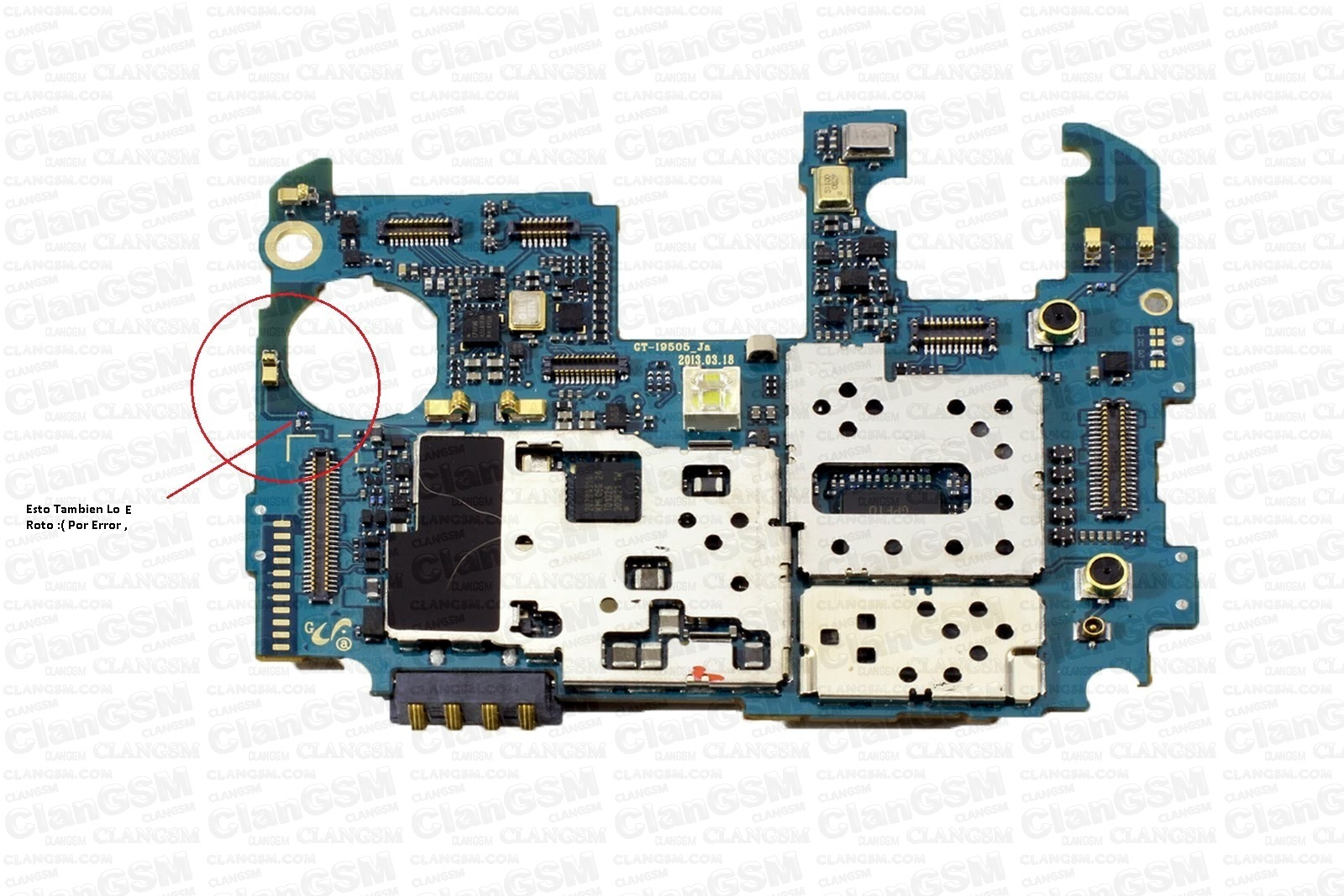 Circuito Wifi : S4 pin roto antena wifi circuito clan gsm unión de los