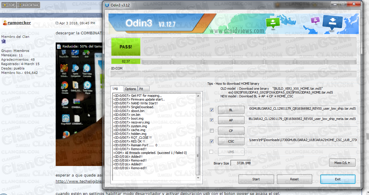 Aporte: Frp Sm-j730gm Samsung J7 Pro Aporte Aqi3 - Clan GSM - Unión
