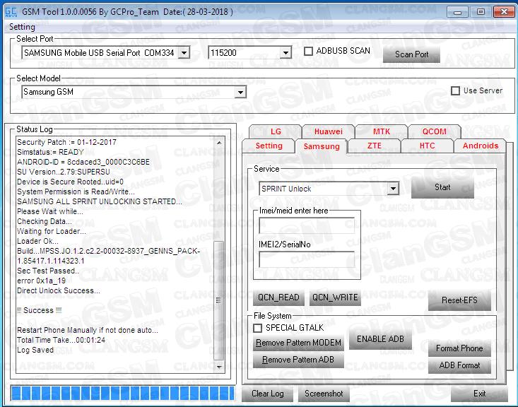 Unlock Samsung J327p Bin 3 - Clan GSM - Unión de los Expertos en