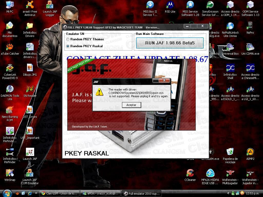 jaf1.98.66_Hot !!! Jaf Virtual Pkey V5 - Trabajando Con Jaf 1.98.66 Beta 4 - Clan GSM - Unión de ...