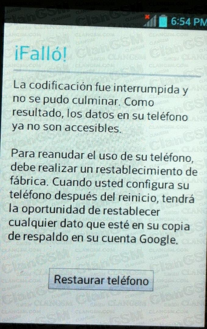 Lg E612g L5 Ii, Fallo La Codificacion Fue Interrumpida - Clan GSM ...