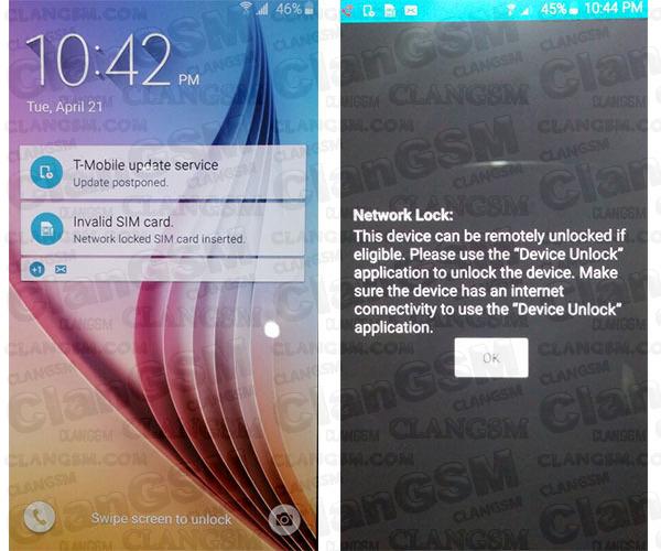 Liberar Samsung Galaxy S6 (sm-g920t) Y Galaxy S6 Edge (sm