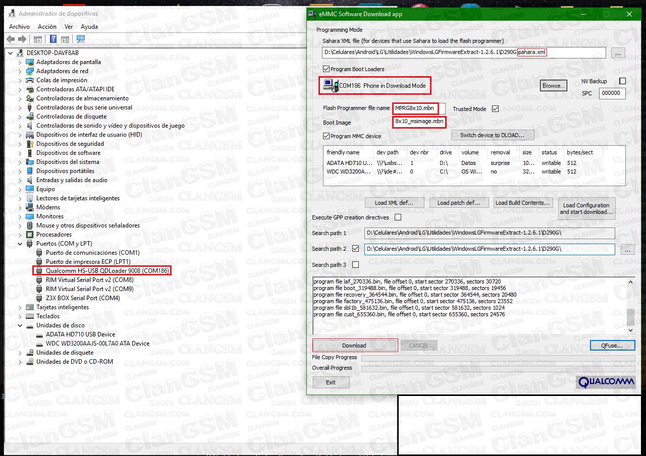Proyecto Lg Qualcomm Hs-usb Qdloader 9008 - L65 - L70 - L80 Y Otros