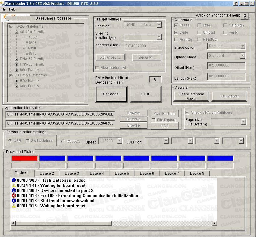 Flash loader 7.5.4