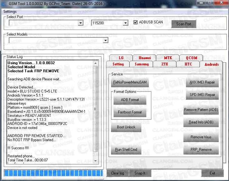 Quitar Cuenta Google Blu C5+5 Lte - Clan GSM - Unión de los