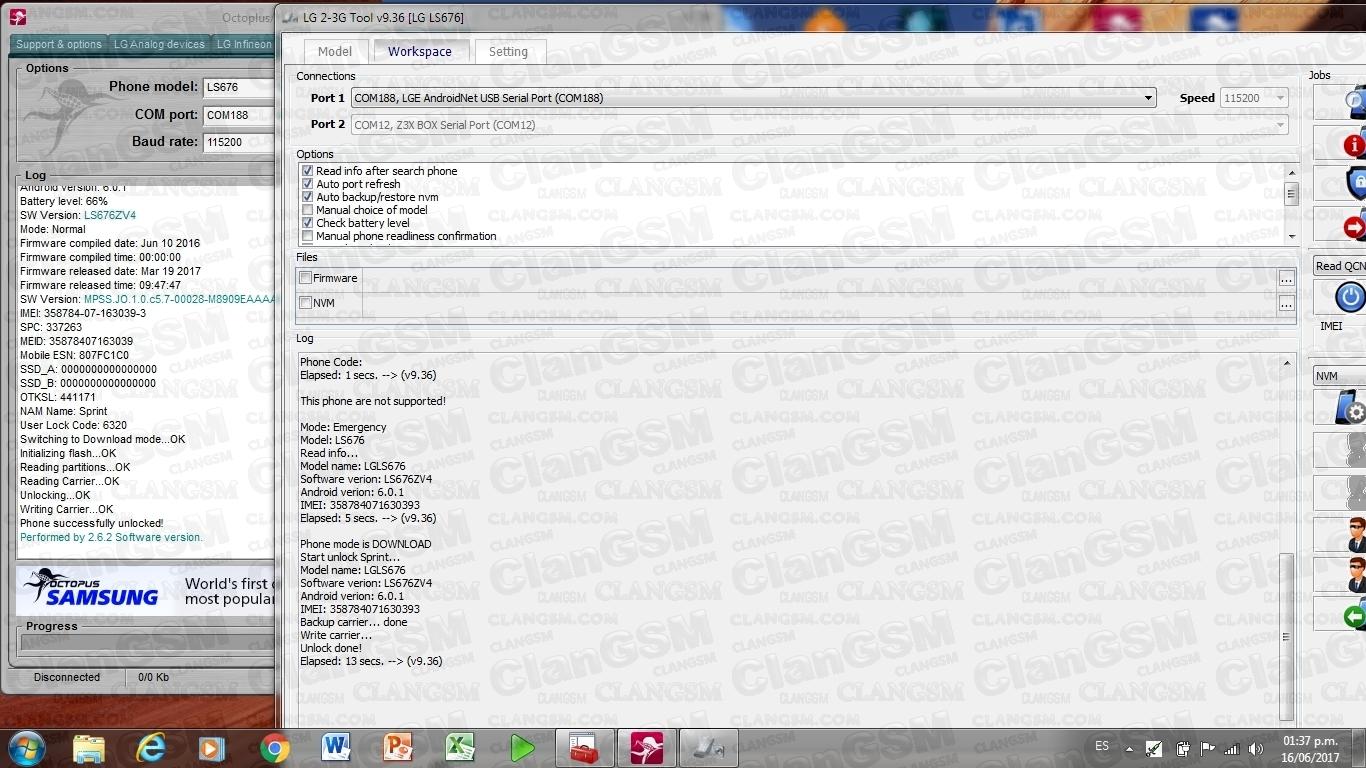 Aporte Unlock Lg Ls676 Octopus - Clan GSM - Unión de los Expertos en