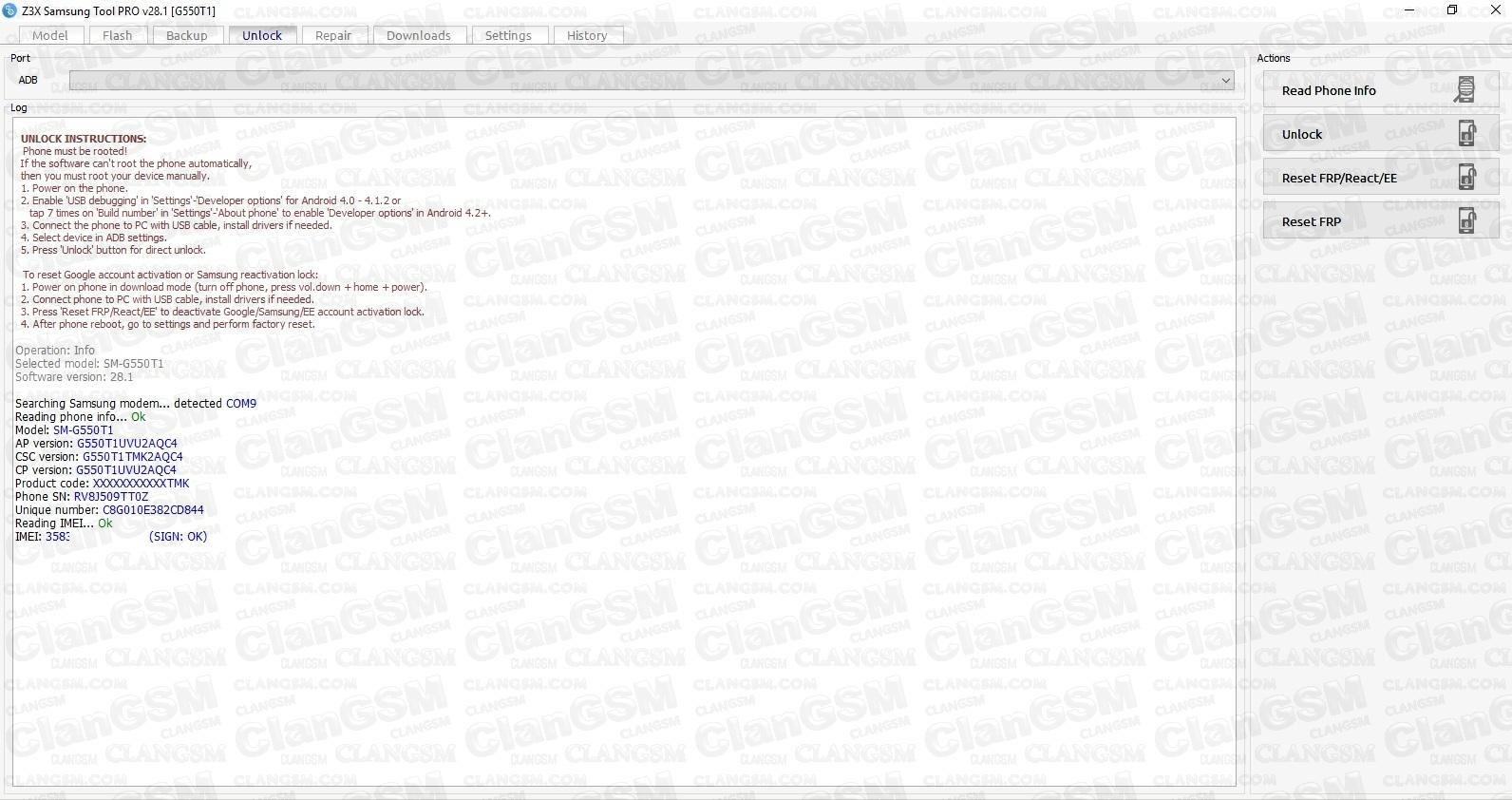 Error Adb Unlock Samssung On5 G550t1 - Clan GSM - Unión de los