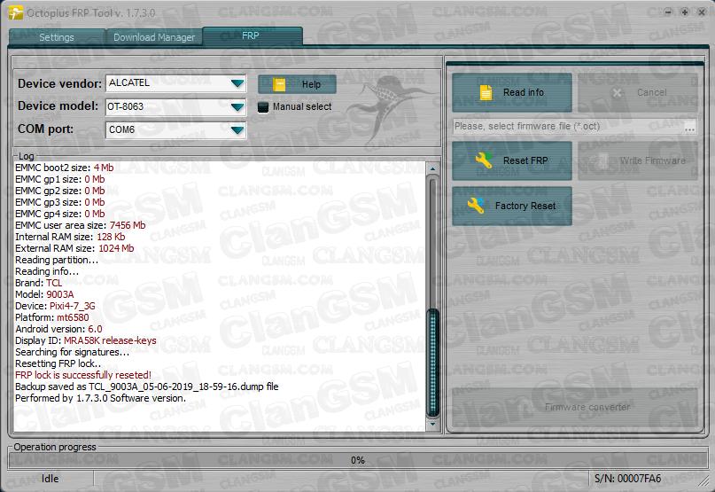 Frp Alcatel Pixi4 7 8063 - Clan GSM - Unión de los Expertos