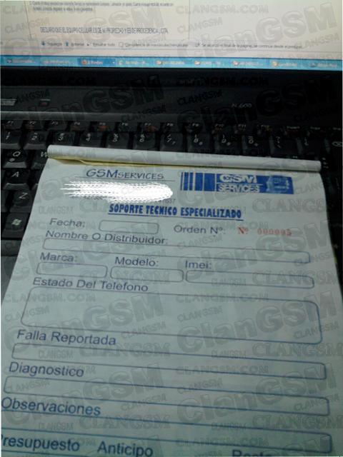 Formato De Factura O Recibo Para Un Servicio Tecnico - Clan GSM ...