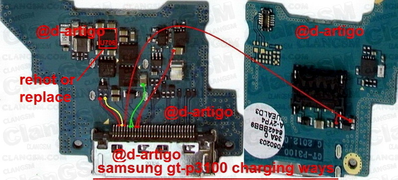 Esquem U00e1tico Samsung Tab2 P3100 Reparar Pin De Carga - Clan Gsm
