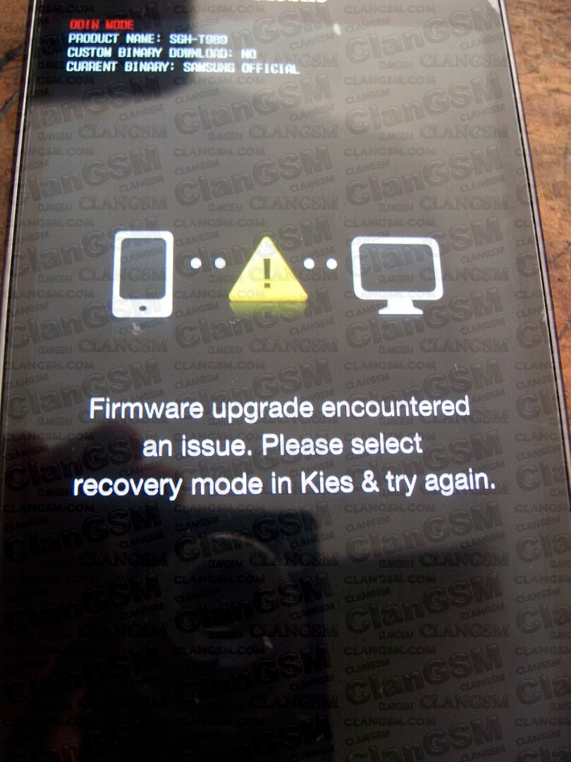 samsung galaxy s2 i9100g firmware upgrade encountered an issue