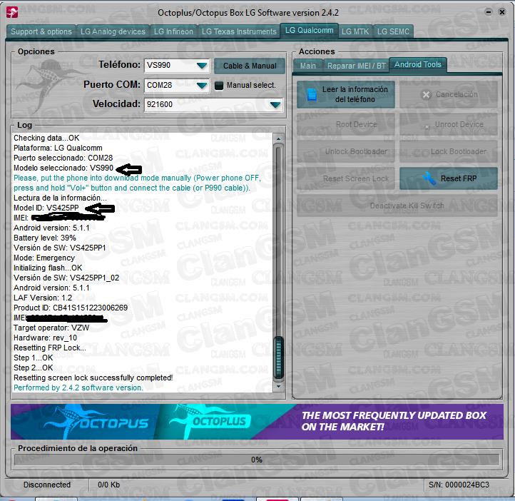 Reset Frp Lg Vs425pp - Clan GSM - Unión de los Expertos en