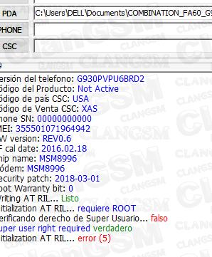 Aporte G930p Bin6 Unlock - Clan GSM - Unión de los Expertos