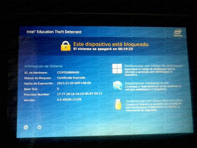 quitar bloqueo por certificado en tablet mx intel