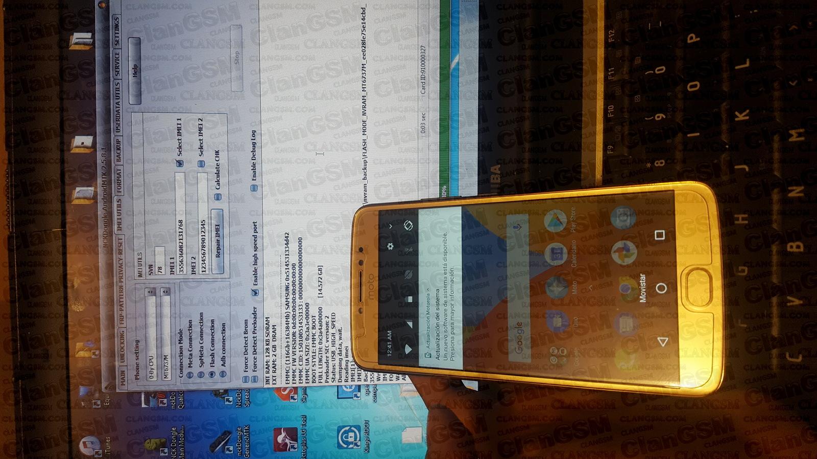 Aporte Reparar Imei Moto E4 Plus Xt1772 - Clan GSM - Unión
