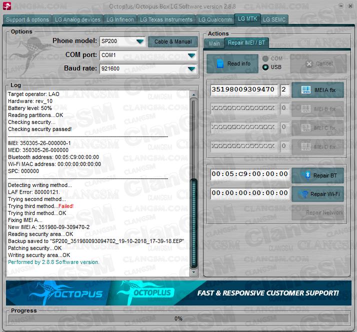 Unlock Real Lg Sp200 - Clan GSM - Unión de los Expertos en Telefonía