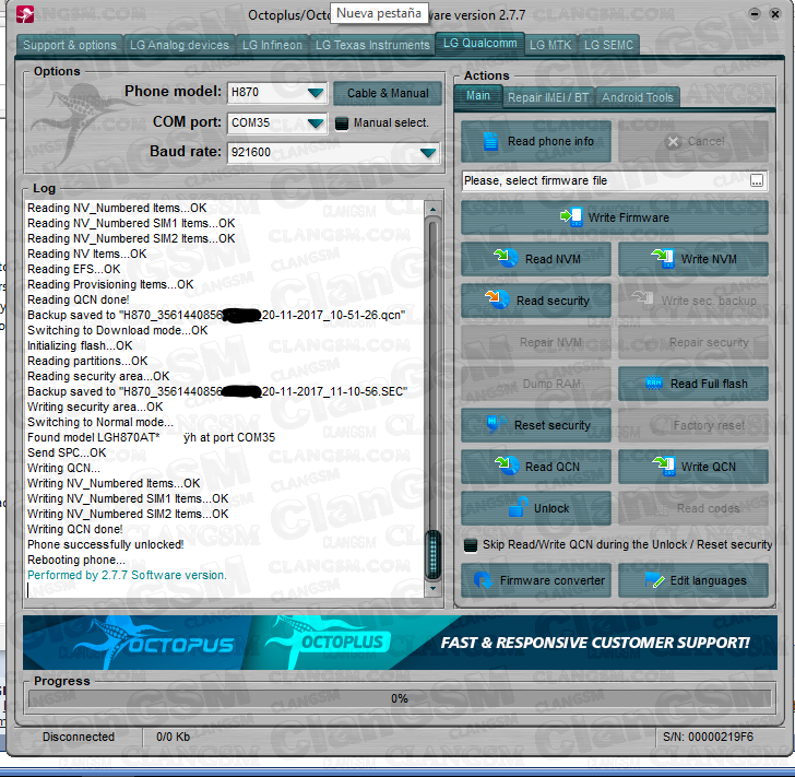 Unlock Lg G6 H870 - Clan GSM - Unión de los Expertos en Telefonía
