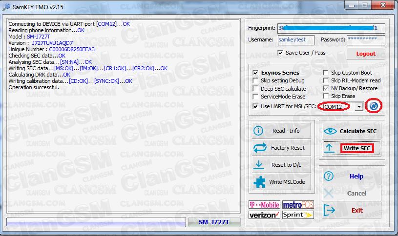 J727t1, Unlock Con Samkey Tmo Apoprte - Clan GSM - Unión de