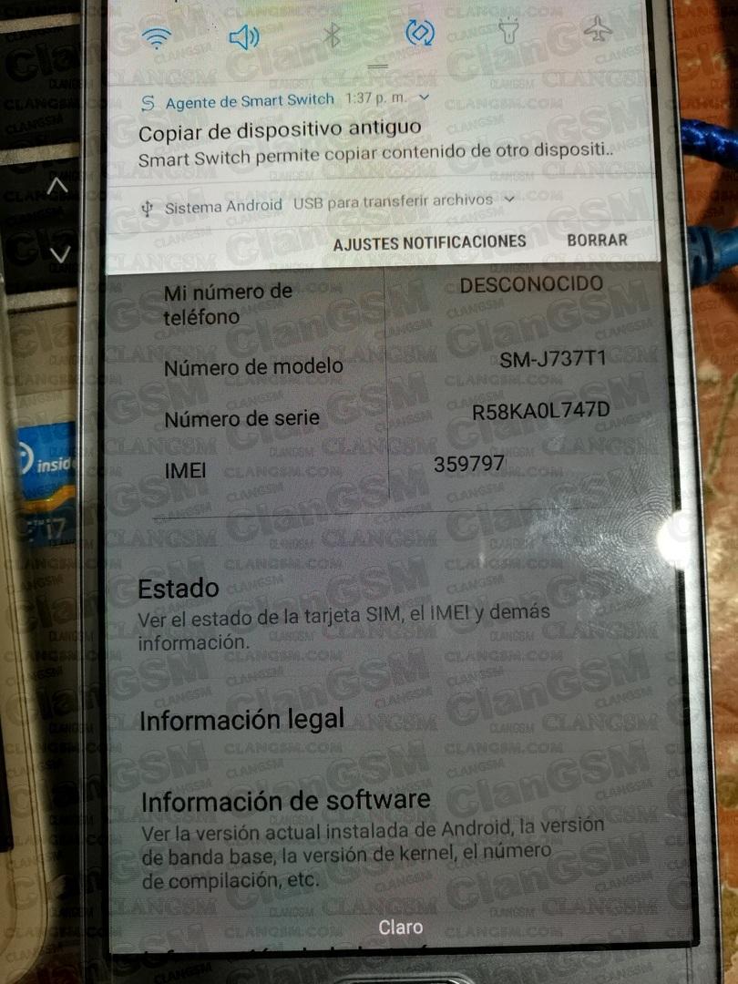 Aporte Desbloqueo Samsung J737t1 - Clan GSM - Unión de los Expertos